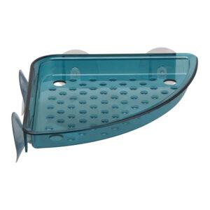 Etajera baie colt plastic 15x18x2.5 cm Verde