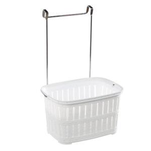 Cos suspendabil din plastic pentru bucatarie 30x12x21 cm Alb
