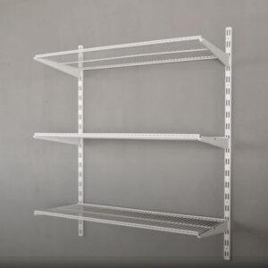 Raft de perete cu 3 polite din sarma 80x40x100 cm Alb