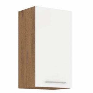 Cabinet superior VEGA 40x31x71,5 cm PAL Stejar/alb lucios