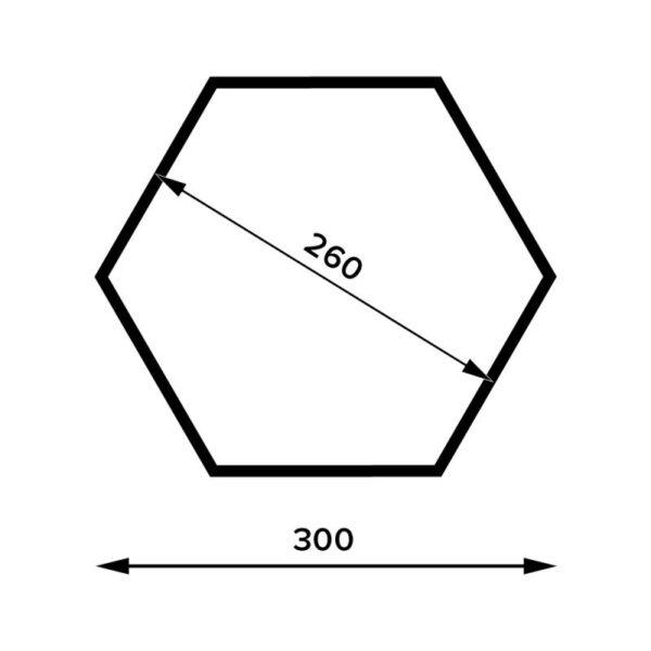 Raft Hexagonal FHS 30x26x11.5 cm