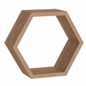 Raft Hexagonal FHS 30x26x11.5 cm MDF Stejar Sonoma