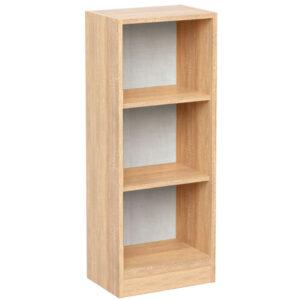 Etajera pentru birou cu 3 rafturi, 40x28x106 cm, Arly, PAL Stejar Sonoma