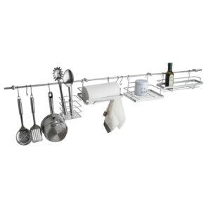Set modular agatatori si etajere pentru bucatarie, 150x15 cm, Arly, Metal