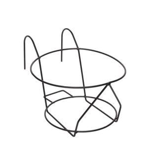 Suport suspendabil rotund pentru ghivece, 25x17 cm, Fier, Negru